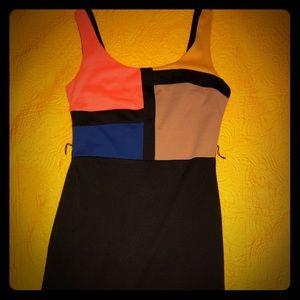 Studio city color block dress